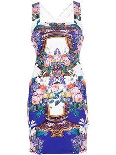 ROBERTO CAVALLI - floral racer back dress 1