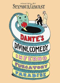 Divine Comedy  Date: 2010 Client: Bloomsbury  Dante's Divine Comedy is the first in a series of graphic novels produced for Bloomsbury Publishing. Chwast takes great care in solving the graphic and illustrative problem of each classic, distilling the original story down to its very essence. For this adaptation, Chwast consulted a wide range of source material, including a nineteenth century edition illustrated by french artist Gustave Doré.