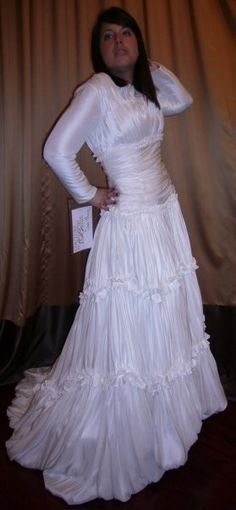 Modest Wedding Dress from WeddingDressFantasy.com and CoutureDeBride.com #modest #wedding #dress #sleeves #tzniut #tznius #kallah #gown