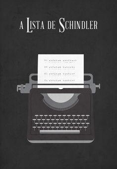 Schindler's List (1993) ~ Minimal Movie Poster by Juan Carlos Borgonovo #amusementphile