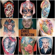 Chris Blinston - runner up for Ink master - Season 6 Tattoos Chris Nunez, Chris Masters, Ink Master, I Tattoo, Portrait, Tv, Headshot Photography, Television Set, Portrait Paintings