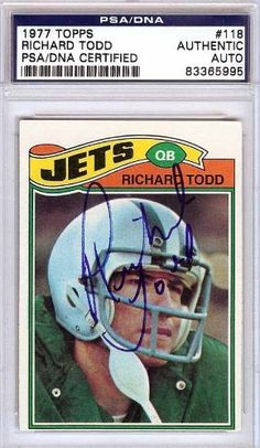 Richard Todd Autographed/Hand Signed 1977 Topps Rookie Card PSA/DNA #83365995 by Hall of Fame Memorabilia. $56.95. This is a 1977 Topps Rookie Card that has been hand signed by Richard Todd. It has been authenticated by PSA/DNA and comes encapsulated in their tamper-proof holder.
