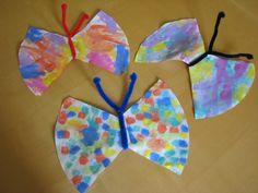 Basteln mit Kindern – Schmetterlinge basteln