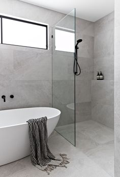 Beautiful master bathroom decor tips. Modern Farmhouse, Rustic Modern, Classic, light and airy bathroom design ideas. Bathroom makeover some ideas and master bathroom renovation suggestions. Bathroom Tile Designs, Bathroom Inspo, Bathroom Layout, Bathroom Inspiration, Tile Bathrooms, Bathroom Ideas, Bathroom Organization, Bathroom Storage, Large Tile Bathroom