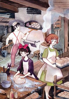 Heikala sells cute products of her illustrations Hayao Miyazaki, Studio Ghibli Art, Studio Ghibli Movies, Illustrations, Illustration Art, Film Manga, Character Art, Character Design, Another Anime