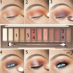 maquillage smoky eyes couleurs nude yeux bleus #makeup