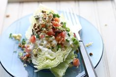 Wedge Salad with Smoky Blue Cheese Dressing