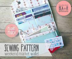 Weekend Market Phone Wallet  Sewing Pattern // Clutch / Phone