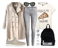 """My Valentine Date: PIZZA"" by joslynaurora on Polyvore featuring Victoria Beckham, Topshop, New Balance, Moschino, FOSSIL, GUESS, women's clothing, women's fashion, women and female"