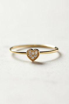 sparkled heart ring / anthropologie