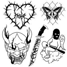 Scary Tattoos, Dope Tattoos, Mini Tattoos, Black Tattoos, Tattoo Sketches, Tattoo Drawings, Old School Tattoo Designs, Graffiti Tattoo, Tattoo Templates