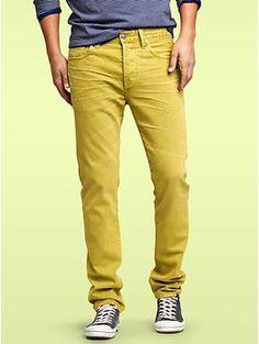 Hmmm...acid yellow/green for spring/summer pour mois? Hmmm... www.gapcanada.ca