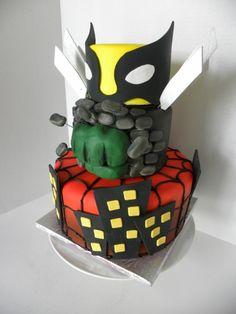 marvel comic cake By rebbateman