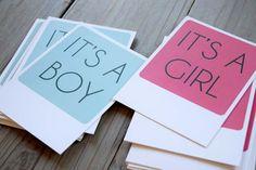 Postales anuncio nacimiento. Niño / Niña. Eventos y fiestas.  Tienes algo importante que decir? Hazlo divertido!  El set de 12 tarjetas polaroid para