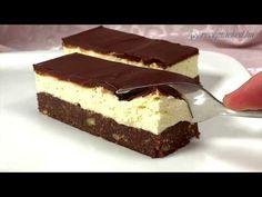 Nanaimo szelet - YouTube Tiramisu, Cheesecake, Make It Yourself, Cooking, Ethnic Recipes, Food, Youtube, Sheet Cakes, Cheesecakes