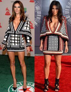 Alessandra Ambrosio y Kim Kardashian, cuál es tu favorito?
