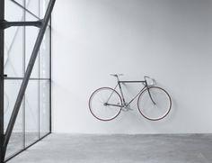 Wooden bike hook, minimal and simple