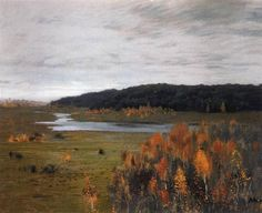 Valley of the River. Autumn., 1896 by Isaac Levitan. Realism. landscape