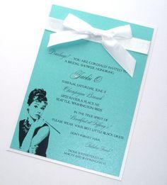 Tiffany & Co. invitations for my Bridal Shower Tiffany Theme, Tiffany Party, Azul Tiffany, Tiffany Wedding, Tiffany Blue, Audrey Hepburn, Tiffany's Bridal, Blue Bridal, Blue Wedding
