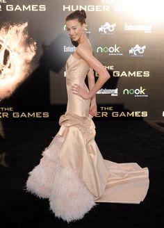 """Kalia Prescott at """"The Hunger Games"""" world premiere."""
