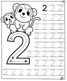 New System-Suitable Numbers Line Study - Preschool Children Akctivitiys Preschool Writing, Numbers Preschool, Preschool Learning Activities, Math Numbers, Preschool Printables, Kindergarten Worksheets, Worksheets For Kids, Teaching Kids, Kids Learning