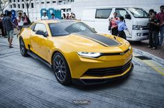 Bumblebee Camaro that will feature in the new Transformers 4 movie