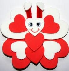 Butterfly Magnet craft for Valentine's Day Valentines Day Crafts For Preschoolers, Valentine's Day Crafts For Kids, Valentines Day Activities, Valentines For Kids, Valentine Day Crafts, Toddler Crafts, Preschool Crafts, Holiday Crafts, Valentine Decorations