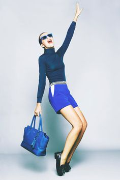 I'm not usually a Coach fan, but I love this blue bag from the new Legacy Collection! Love the lookbook for the bags, too. Gorgeous!