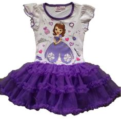 Sofia the first purple dress. Sofia the first birthday theme.