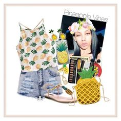 """""""🍍Pineapple Vibes🍍"""" by officially-mya ❤ liked on Polyvore featuring WithChic, Dolce&Gabbana, Boohoo and Kristin Perry"""