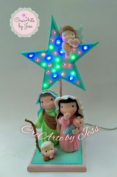 Diy Christmas Star, Christmas Clay, Christmas Nativity, Christmas Projects, Holiday Crafts, Christmas Decorations, Christmas Ornaments, Polymer Clay Crafts, Diy Clay
