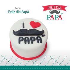 Torta Felíz Día Papá Fathers Day Cupcakes, Fathers Day Cake, Birthday Cake For Papa, Fondant Cakes, Cupcake Cakes, Barcelona Cake, Anniversary Cake Designs, Cake Design For Men, Cake For Husband