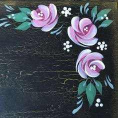 Vintage roses on a Folk It journal from the tutorial: Using 'Weathered wood' crackle medium | Folk It!.