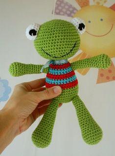 Mesmerizing Crochet an Amigurumi Rabbit Ideas. Lovely Crochet an Amigurumi Rabbit Ideas. Crochet Frog, Crochet Diy, Love Crochet, Crochet Patterns Amigurumi, Crochet For Kids, Amigurumi Doll, Crochet Crafts, Crochet Dolls, Crochet Projects