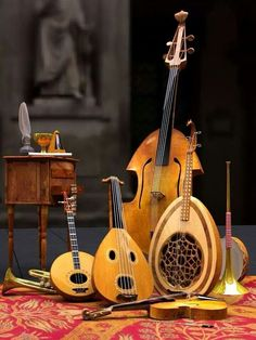Here are some of our instruments on the left side of the music room.