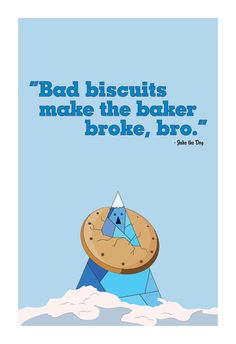Adventure Time Inspired Television Poster // Bad Biscuit by TheGeekerie, $22.00