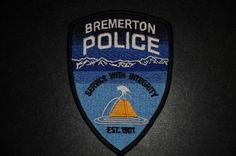 Bremerton Police Patch, Kitsap County, Washington