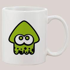 Splatoon Green Squid Mug 11 oz Ceramic Design Funny Custom Gift Mugs