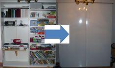 Build sliding doors for large shelving
