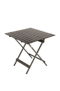 The Kamp-Rite Kwik Fold table is sturdy and lightweight with a center-slide, aluminum-slat top and cross-support legs. It opens and closes quickly with no assembly required. The compact size is easy to store anywhere. Camping Table, Picnic Table, A Table, Metal Dining Table, Metal Side Table, Camping Furniture, Table Furniture, Outdoor Tables, Indoor Outdoor