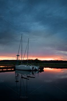 Yachts at Mazury Lakes by eVision.pl on @creativemarket