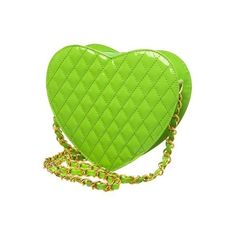 in a word...fab!: Trend Watch: Think Chain Link ❤ liked on Polyvore featuring bags, handbags, purses, green, hand bags, purse bag, green handbags, chain link bag and green bags