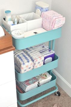 Set up a Diaper Station - CountryLiving.com #girlhacksarticles (girl hacks articles) #babynursery