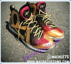 buy online cef5c ae713 LeBron 9 P.S. Elite Nike IX Lebrons MVP by Mache Custom Kicks-A new sample