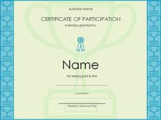 Certificate of participation templates are financial tools where an investor purchases a share of the lease revenues of an agreement instead of the bond Certificate Of Participation Template, Free Gift Certificate Template, Printable Certificates, Templates Printable Free, Free Printables, Word Templates, Custom Made Gift, Words, Confused