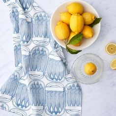 Unique Hand Printed Tea Towels designed by Thornback & Peel