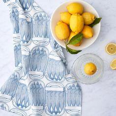Unique Hand Printed Tea Towels designed by Thornback & Peel