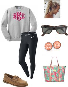 """lazy days are better with a monogram (or two)"" by isabelc830 ❤ liked on Polyvore"