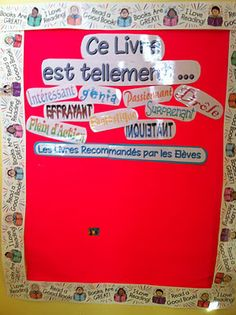Reading recommendations in the French classroom - students recommend the books they love to other students. Writing Activities, Classroom Activities, Classroom Organization, Classroom Management, Classroom Ideas, Teaching Schools, Teaching Resources, Read In French, Book Tasting