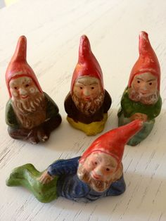 Vintage - Made In Japan- Gnome Figurines.
